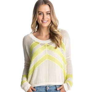 NWT! Roxy Cropped Knit Sweater